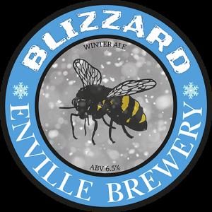 Enville Ales Brewery Blizzard Pump clip logo