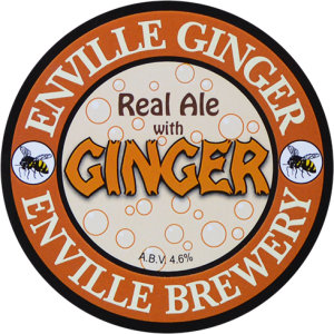 Enville Ales Brewery Ginger Pump clip logo