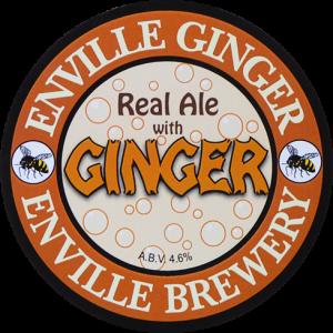 Enville Ales Brewery Ginger Pump clip logo