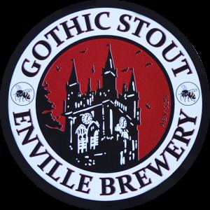 Enville Ales Brewery Gothic Stout Pump clip logo