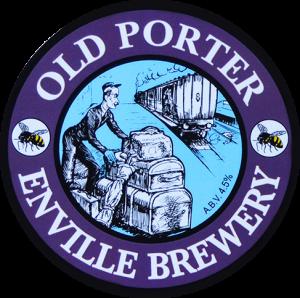 Enville Ales Brewery Old Porter Pump clip logo