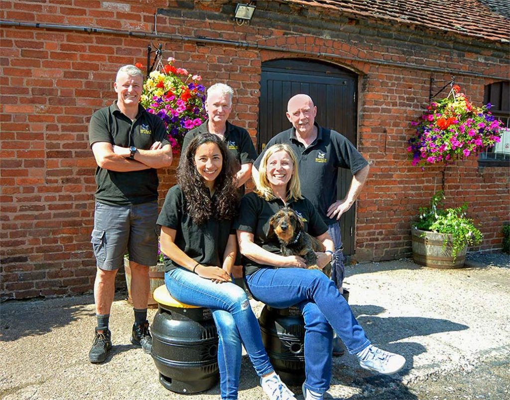 Enville Ales brewery team
