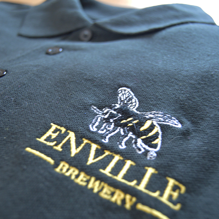 Enville Ales Brewery shop merchandise black polo t-shirt