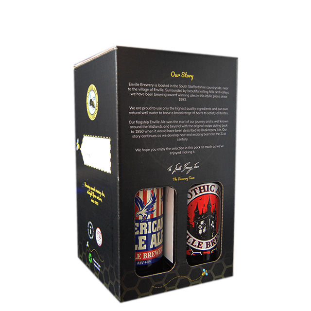 Enville Ales Midlands Staffordshire Shropshire Brewery back of 4 pack gift pack American Pale Ale Gothic Stout