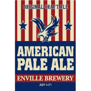 Enville Brewery American Pale Ale abv 4.3% craft ale
