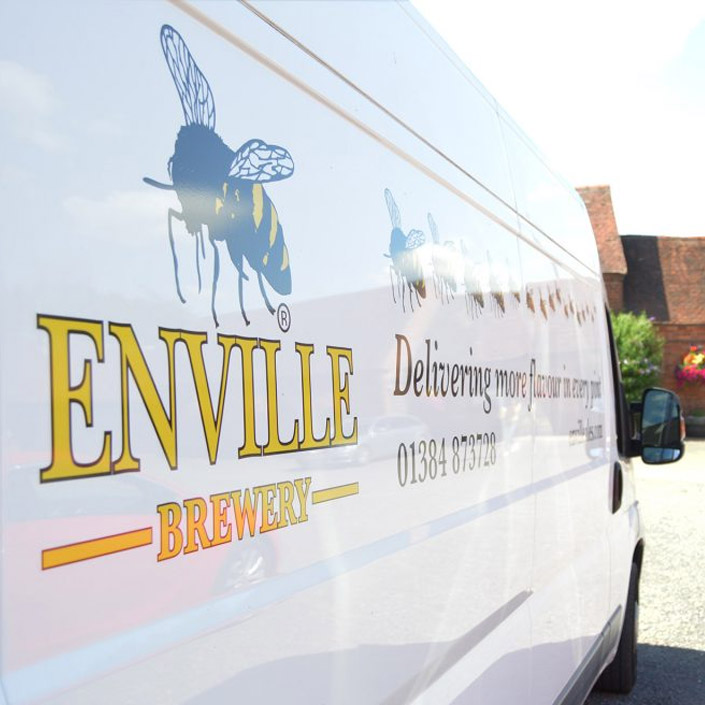 Enville Brewery white van ale delivery stafford shropshire